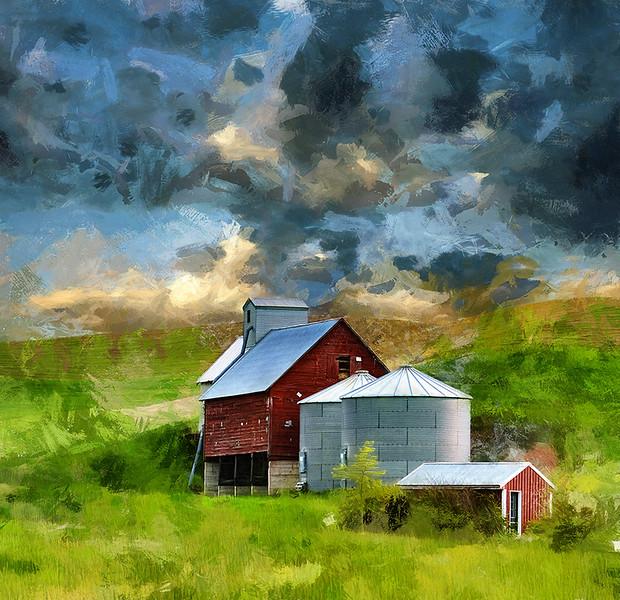 Red Barn and 2 Silos.jpg