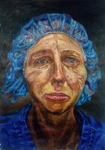 """crying doctor"" (oil on canvas) by An Dong"