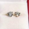 1.85ctw Old European Cut Diamond Stud Earrings 0