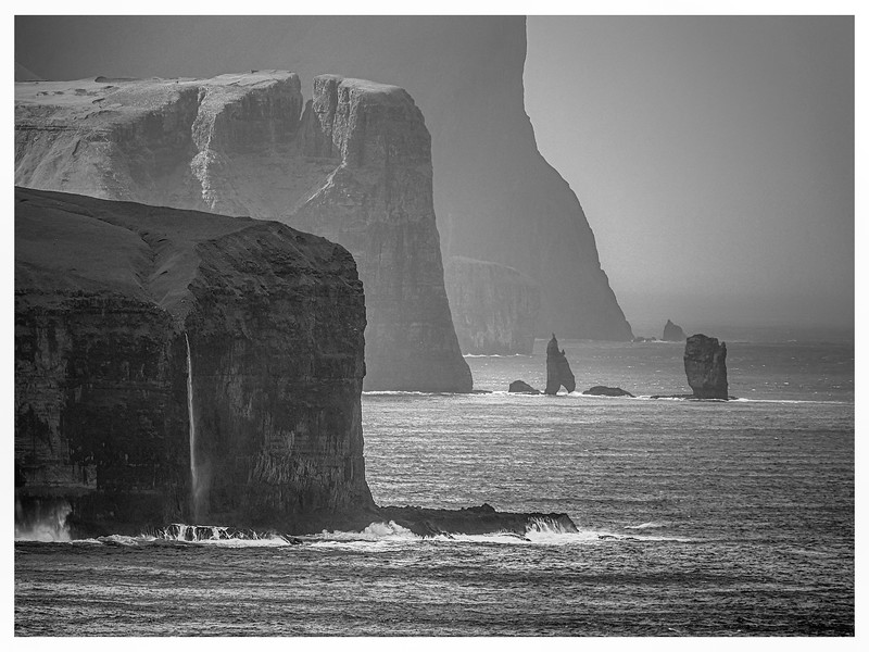 Faroe Coast 27a     black and White Photography by Wayne Heim