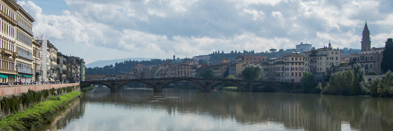 Arno River and ancient bridges