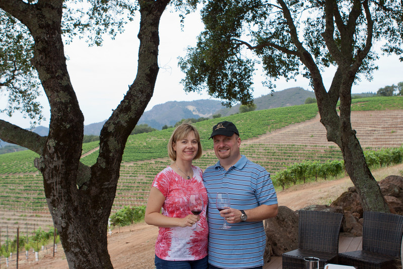 Wine Tasting at the mountain top of Kunde Vineyards in Sonoma.