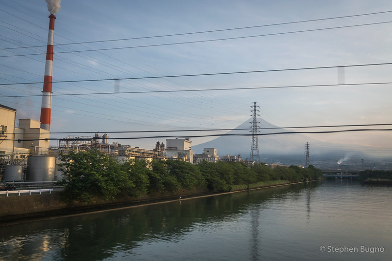 Mt Fuji from the train