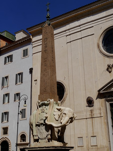 One of the many egyptian obelisks in Rome. There are more standing obelisks in Italy than there are in Egypt.