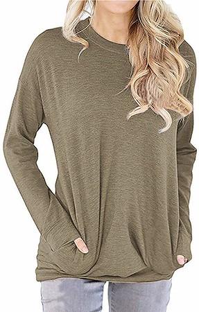 Women's Long Sleeve Round Neck Sweatshirt