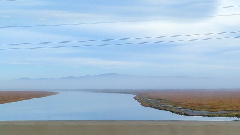 Early morning fog over the Petaluma River.
