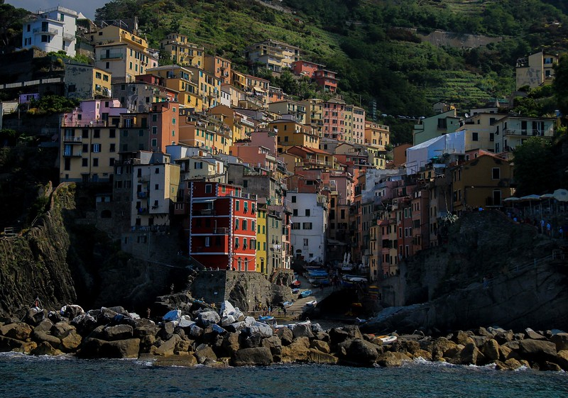 Riomaggiore, Italy-the first city we saw in Cinque Terre National Park.