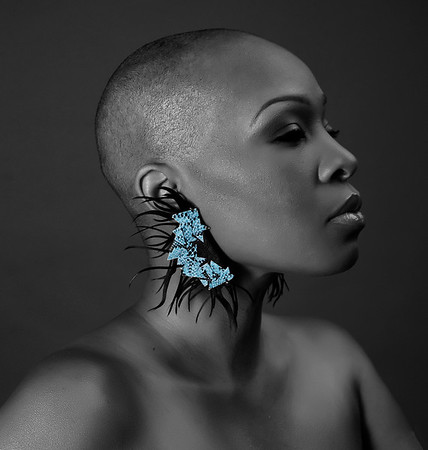 Bald, black and beautiful featuring model: Terri White