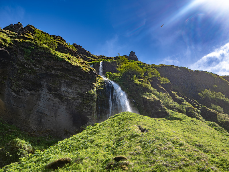 Waterfall #53 in Iceland   Photography by Wayne Heim