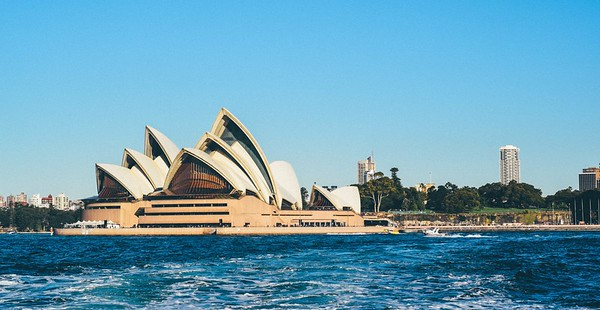 view of sydney opera house from the water