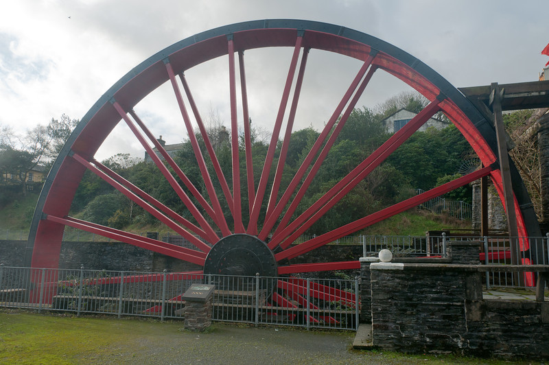 Close-up shot of the Snaefell Wheel in Isle of Man