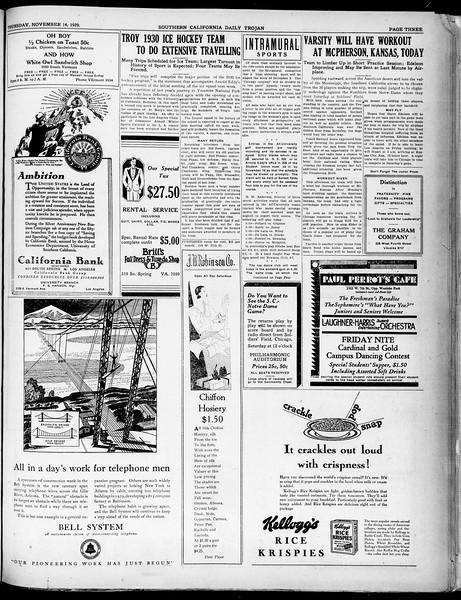 Southern California Daily Trojan, Vol. 21, No. 42, November 14, 1929