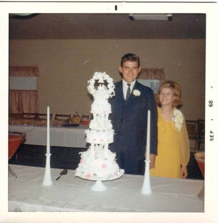 Our wedding reception at Grange Hall 1968