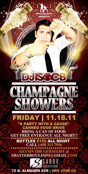 Champagne Showers @ Sabor Tapas Bar & Lounge 11.18.11