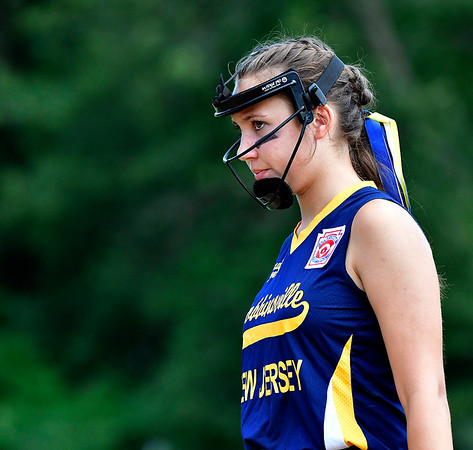 7/24/2019 Mike Orazzi   Staff New Jersey's Madison Manning (23) during Wednesday's Little League Softball game with Rhode Island in Bristol.