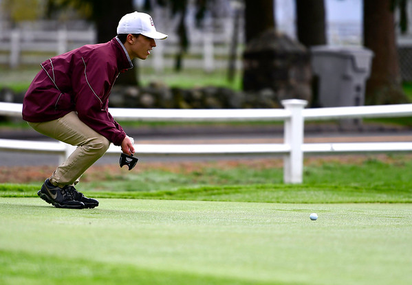 4/30/2019 Mike Orazzi | Staff Bristol Central's Diego Naranjo during Tuesday's match with Bristol Eastern at Chippanee Golf Club.