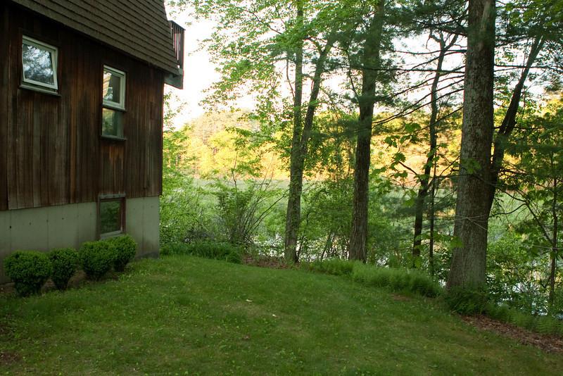 Alongside the house, looking towards Beaver Brook.