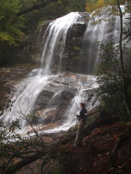 Upper section of Glen Falls in the Nantahala National Forest.