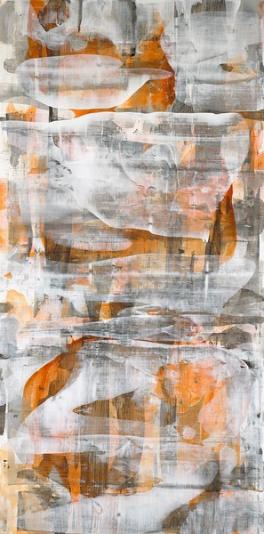 """Whispers-Iorillo, 60"""" high x 30""""wide painting on canvas"""