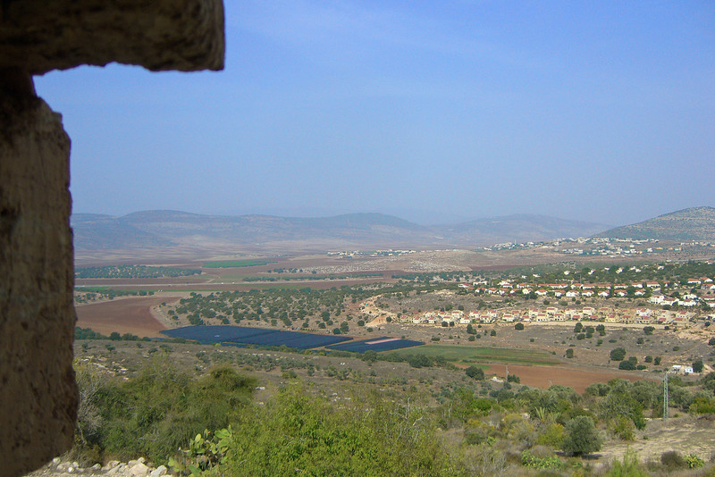 21-View from the Citadel to Moshav Tzippori (foreground) and the Arab village of Hosha'Aya (above and behind). You can't sense the 104 degree heat from this photo.