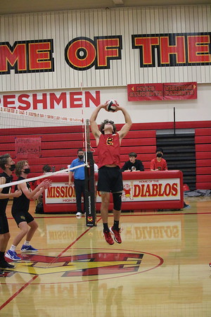 Boys Volleyball Action