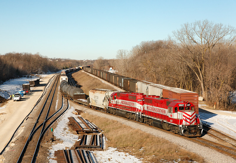 Wisconsin & Southern 3807 (EMD GP38AC) - Ackerville, WI