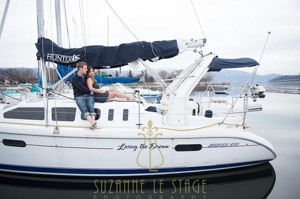 Blaine & Wyn - Engagement session - Kelowna Yacht Club
