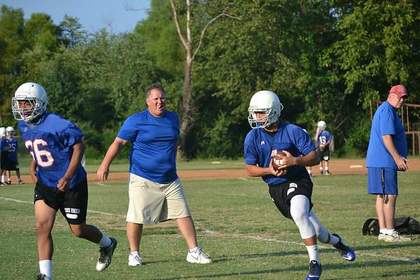 JV Football Preseason Practice