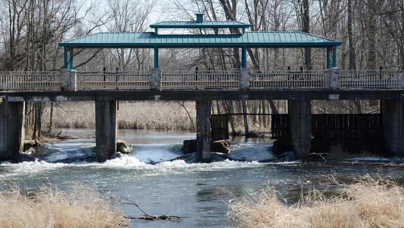 Kalamazoo River Dam in Homer,MI