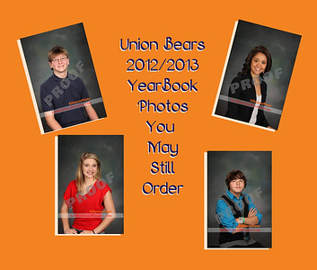 Union High YearBook Photos 2012/2013