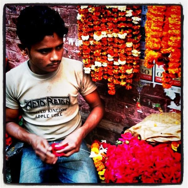 Flowers on streets of old Dhaka - Bangladesh