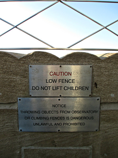 """Sign at the top of the Empire State Building"" - Daily Photo - 07/19/13  Thinking that sign didn't stop anyone from doing something stupid or desperate, thought it was funny though."