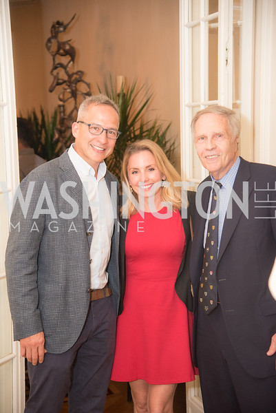 "Winston Boa Lord, Stephanie Cate Lord, Amb. Winston Lord,  Book Party with Ambassador Winston Lord, ""Kissinger on Kissinger"", and Jim Sciutto, ""The Shadow War"", at the home of Juleanna Glover and Christopher Reiter.  Summer 2019, Photo by Ben Droz."