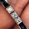 Art Deco Diamond & Onyx Bracelet 23