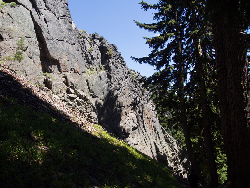Another view of the outcropping