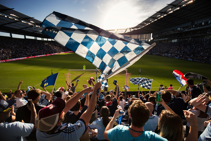 Scenes during the game between Sporting KC and the San Jose Quakes at Children's Mercy Park on October 23, 2016 in Kansas City, Kansas. Photo by Adam Glanzman for Quartz