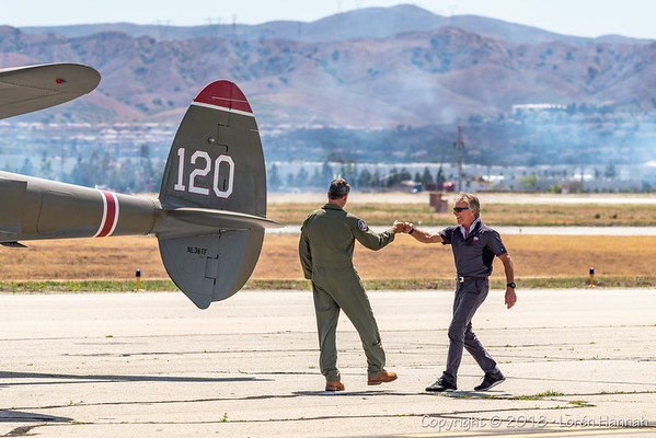 POF 2018 Airshow - Taxiway, Pilots & Statics - Chino, CA