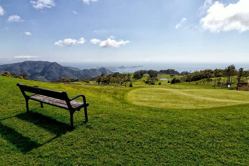 Your seat on the 9th hole of the Santo da Serra Golf Club