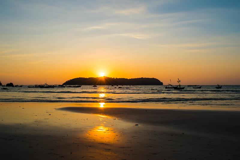 Sunset at Ngapali Beach