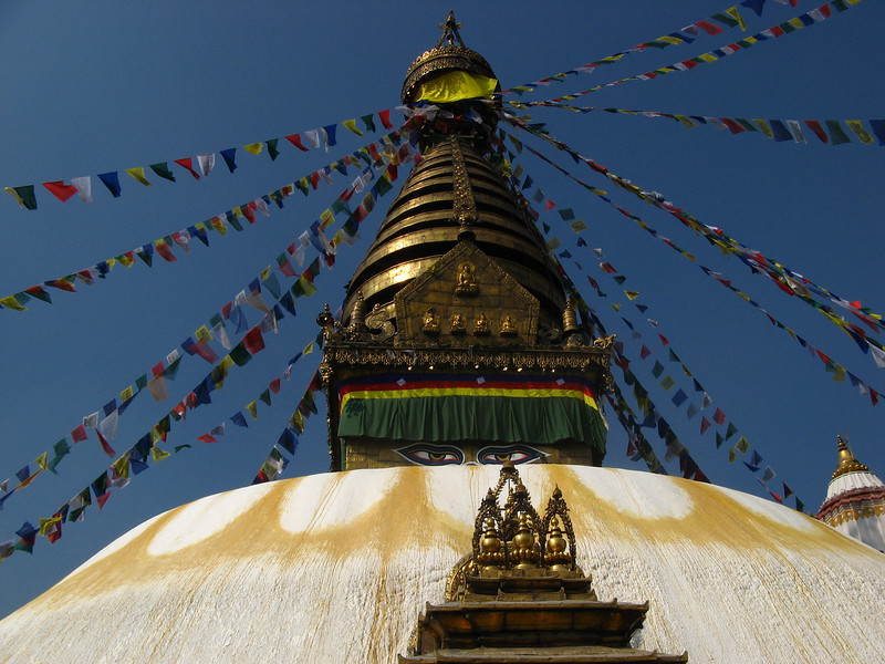 A huge Tibetan stupa