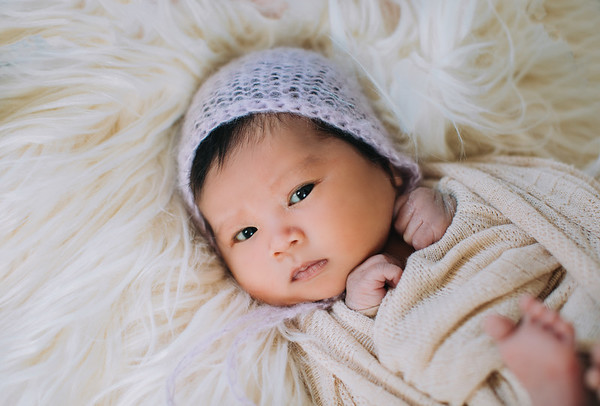 Newborn Lavender Knit Hat