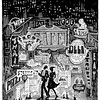 """""""Restaurant City""""; drawing for the cover of a Daily News (NYC) section"""