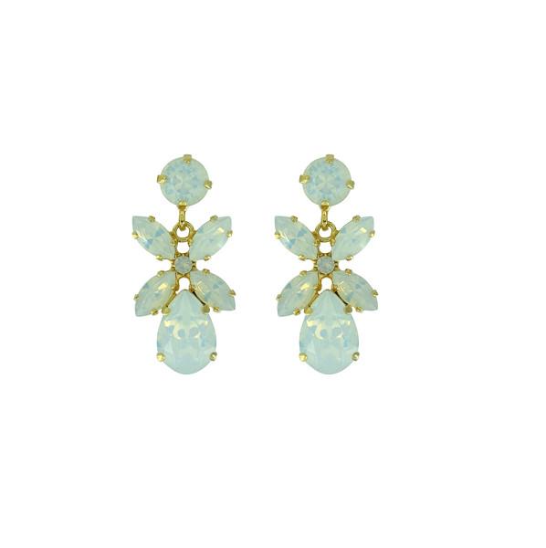 Mini Dione Earrings / White Opal