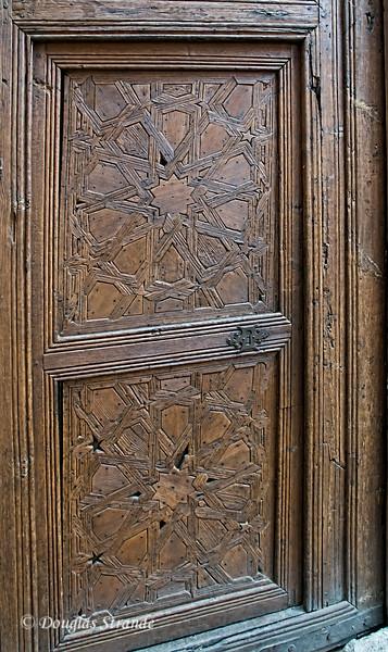 Wed 3/09 in Toledo: Intricate wooden door