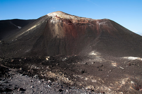 Walking through the crater of the Cerro Negro Volcano