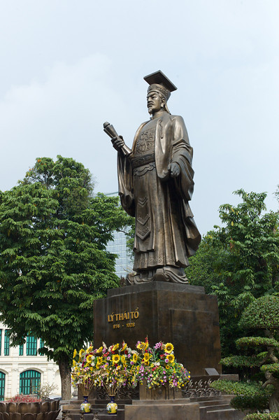 Statue of King Ly Thai To at Indira Gandhi Park.  Ly Thai To Statue stands on a prominent spot at Indira Gandhi Park, one of the major parks in Hanoi. It is a memorial to the founder and first king of the Ly Dynasty.  The Ly Dynasty reigned over the land that is now Vietnam for more than two hundred years, from 1009 to 1225AD. The dynasty was founded by one Ly Cong Uan, who changed his name to Ly Thai To when he ascended the throne. It was Ly Thai To who moved the capital to Thang Long, near present-day Hanoi, and this move resulted in the eventual founding of Hanoi as a city and present-day capital.  Buddhism was the state religion during the Ly dynasty. The Ly monarchs founded over 150 monasteries around the Thang Long region. The Ly Dynasty came to an end in 1225 when a shrewd commoner by the name of Tran Canh married the last queen of the Ly Dynasty and maneuvered his way to the throne, founding the Tran Dynasty in the process.  http://www.asiaexplorers.com/vietnam/lythaitostatue.htm