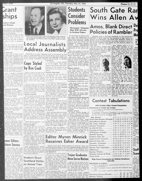 Daily Trojan, Vol. 33, No. 94, January 22, 1942