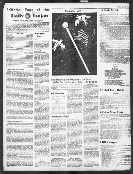 Daily Trojan, Vol. 27, No. 146, May 29, 1936