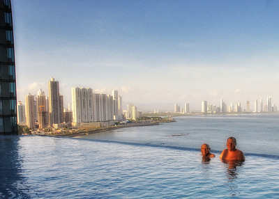 Panama City at dusk
