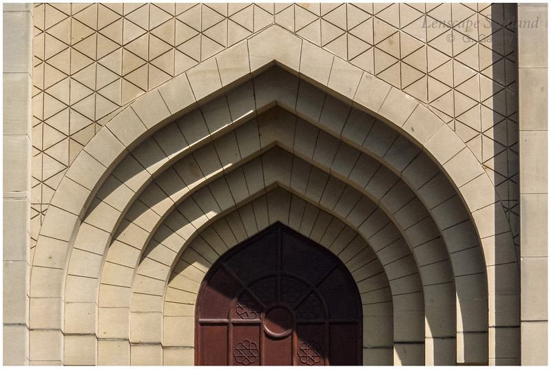 the main entrance to Edinburgh Central Mosque